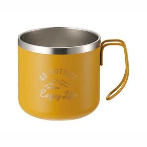モンテ ダブルステンレスマグカップ350 イエロー
