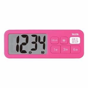 【T】デジタルタイマー でか見えプラスタイマー TD-395 ピンク