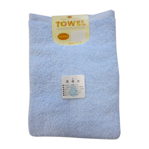 【T】高吸水バスタオル1枚組 ブルー
