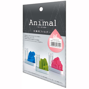 【T】自然気化式ECO加湿器うるおい「Animal」ちいさな森 交換用フィルター ウサギ-ピンク