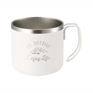 モンテ ダブルステンレスマグカップ350 ホワイト