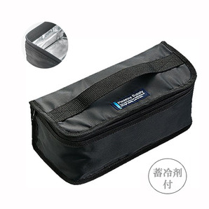 【T】2段用保冷ランチバッグ ブラック
