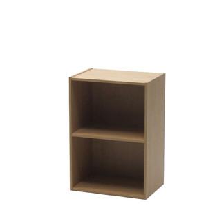 【T】カラーボックス2段 ナチュラル木目調