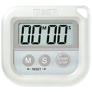【T】デジタルタイマー 丸洗いタイマー100分計 TD-376 ホワイト