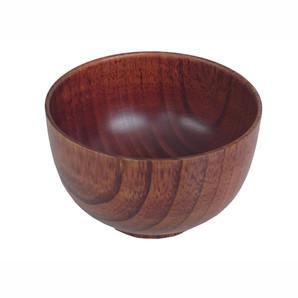 【T】木製汁椀 布袋スリ 4.3寸