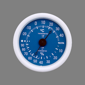 【T】温度計 温湿度計 TT-515 ブルー