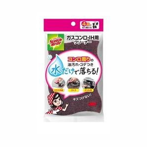 【T】スコッチ・ブライト(TM) ガスコンロ・IH用クリーナー4個入り