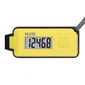 【T】緊急ホイッスル付き3Dセンサー搭載歩数計「歩イッスル」 FB-738 イエロー