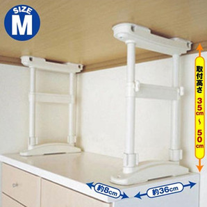【T】家具転倒防止圧着Wポール  Mサイズ