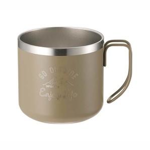 モンテ ダブルステンレスマグカップ350 カーキ