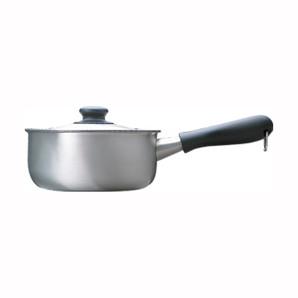 【T】柳宗理 ステンレス・アルミ三層鋼片手鍋18cm