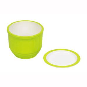 【TS】彩創 麺つゆカップ(薬味皿付) グリーン