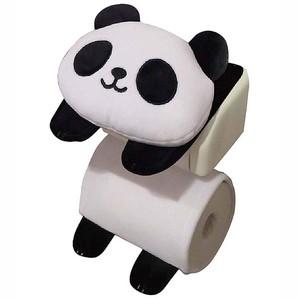 【T】パンダのトイレロールペーパーホルダー