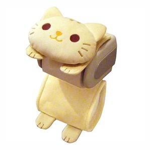 【T】ねこのトイレロールペーパーホルダー トラ
