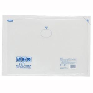 【T】LD 規格袋 15号 0.030mm厚  100枚 透明