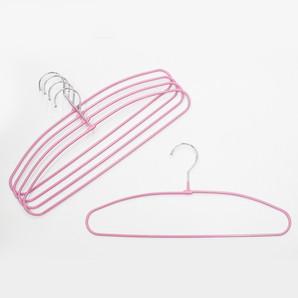 【T】ノンスリップスリムハンガー 5本組 ピンク