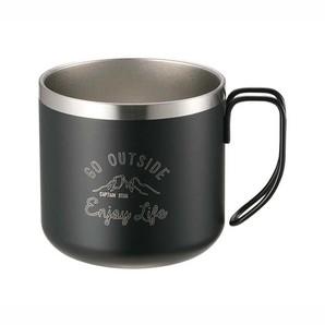 モンテ ダブルステンレスマグカップ350 ブラック