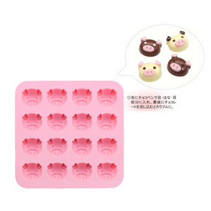 【T】チョコレートモールド こぶたピンク