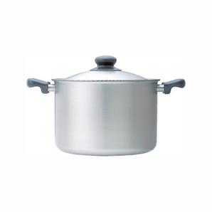 【T】柳宗理 ステンレス・アルミ三層鋼両手深型鍋22cm つや消し