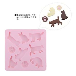 【販売終了】チョコレートモールド ネコ