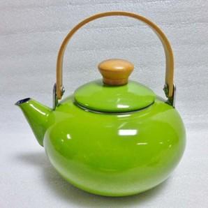 【T】雅ホーローケットル2L 緑
