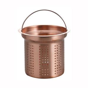 アクアスプラッシュ 純銅排水口水切りカゴ13.5cm