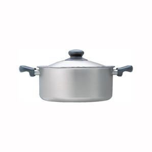 【T】柳宗理 ステンレス・アルミ三層鋼両手浅型鍋22cm つや消し