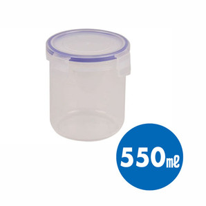 【T】キープロック 鮮度を保つ保存容器丸形550ml