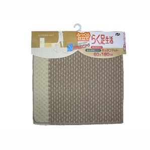 【T】エフィカス キッチンマット 60X180cm ブラウン