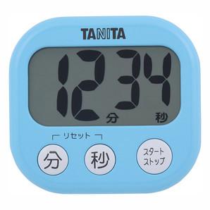 【T】デジタルタイマー でか見えタイマー TD-384 アクアミントブルー