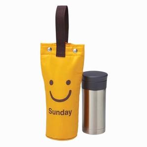 マグボトルカバー ボタン式 スマイル オレンジ