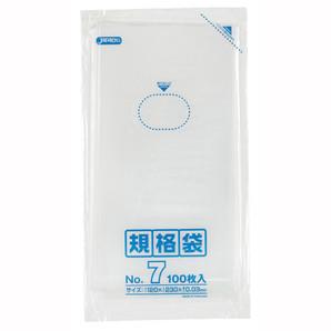 【T】LD 規格袋 07号 0.030mm厚  100枚 透明