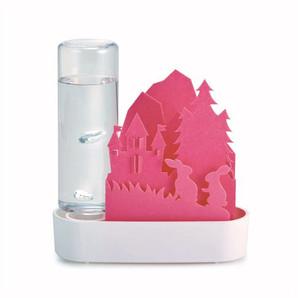 【T】自然気化式ECO加湿器うるおい「Animal」ちいさな森 ウサギ-ピンク