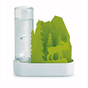 【T】自然気化式ECO加湿器うるおい「Animal」ちいさな森 エルク-グリーン