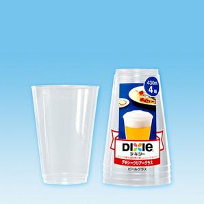 【T】クリアーグラス(ビール)430ml 4個入