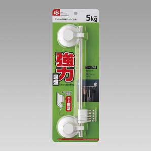 【T】プッシュ式吸盤フック(5連)