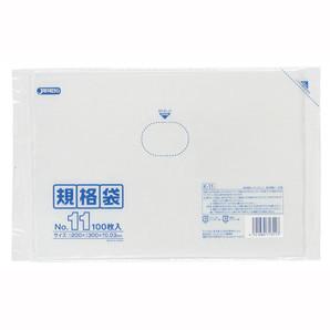 【T】LD 規格袋 11号 0.030mm厚  100枚 透明