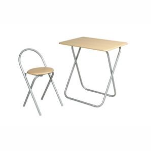 【T】フォールディングテーブルセット ナチュラル