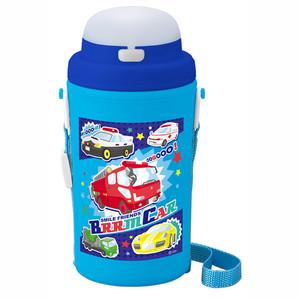 ブルーン カー ストロー付き水筒(保冷タイプ)