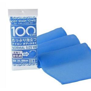 【T】シャワロン ボディタオル100cm かため ブルー