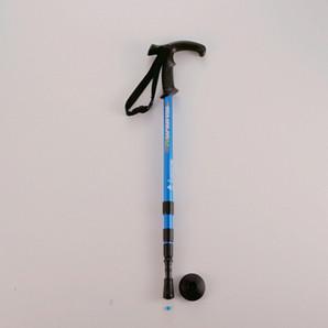 FEEL BOSCO トレッキングステッキ Tグリップ(3段スライド式)ブルー