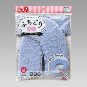 【T】吸着べんざシート ふちどり小花 ブルー