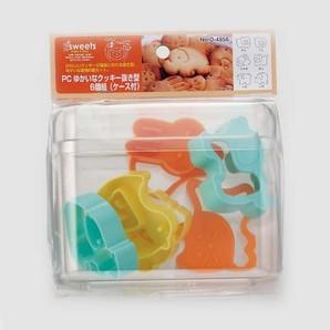 【販売終了】EEスイーツ PCゆかいなクッキー抜き型6個組(ケース付)