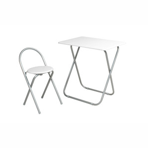 【T】フォールディングテーブルセット ホワイト