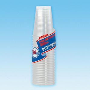 【T】エコノウエア 透明プラスチックカップ220ml 30個入