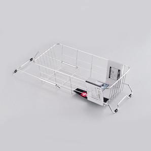 【T】アルファージュ ステンレス製スライド式シンク水切りバスケット